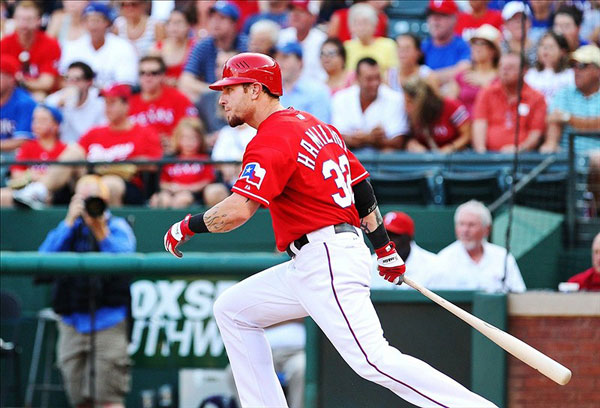 Texas Rangers center fielder Josh Hamilton