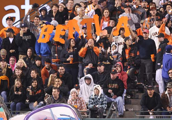 San Francisco Giants fans show their pride