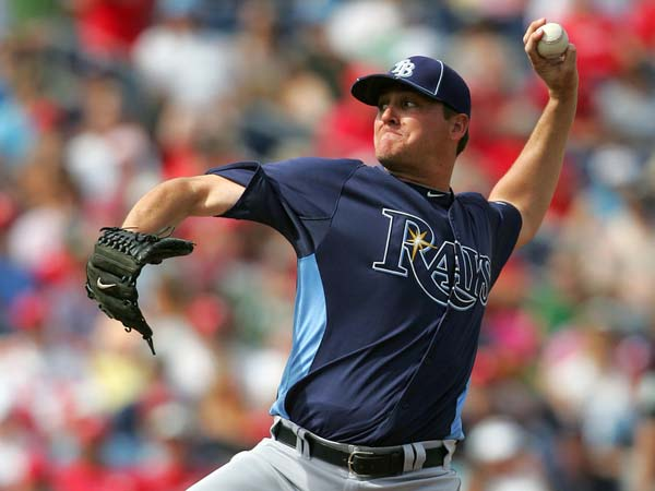 Jake McGee of the Rays delivers a pitch.