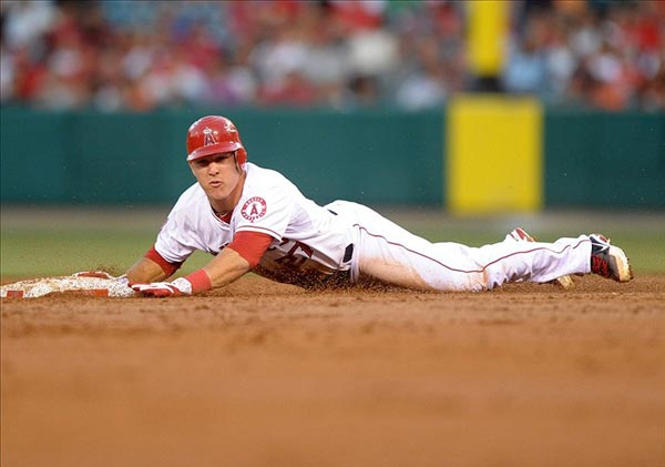 Los Angeles Angels left fielder Mike Trout