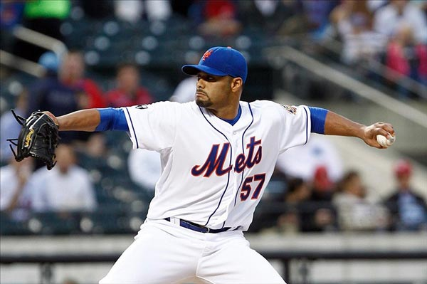 New York Mets starting pitcher Johan Santana